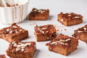 Vegan sweet potato brownie