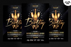 BIRTHDAY VIP Flyer Template