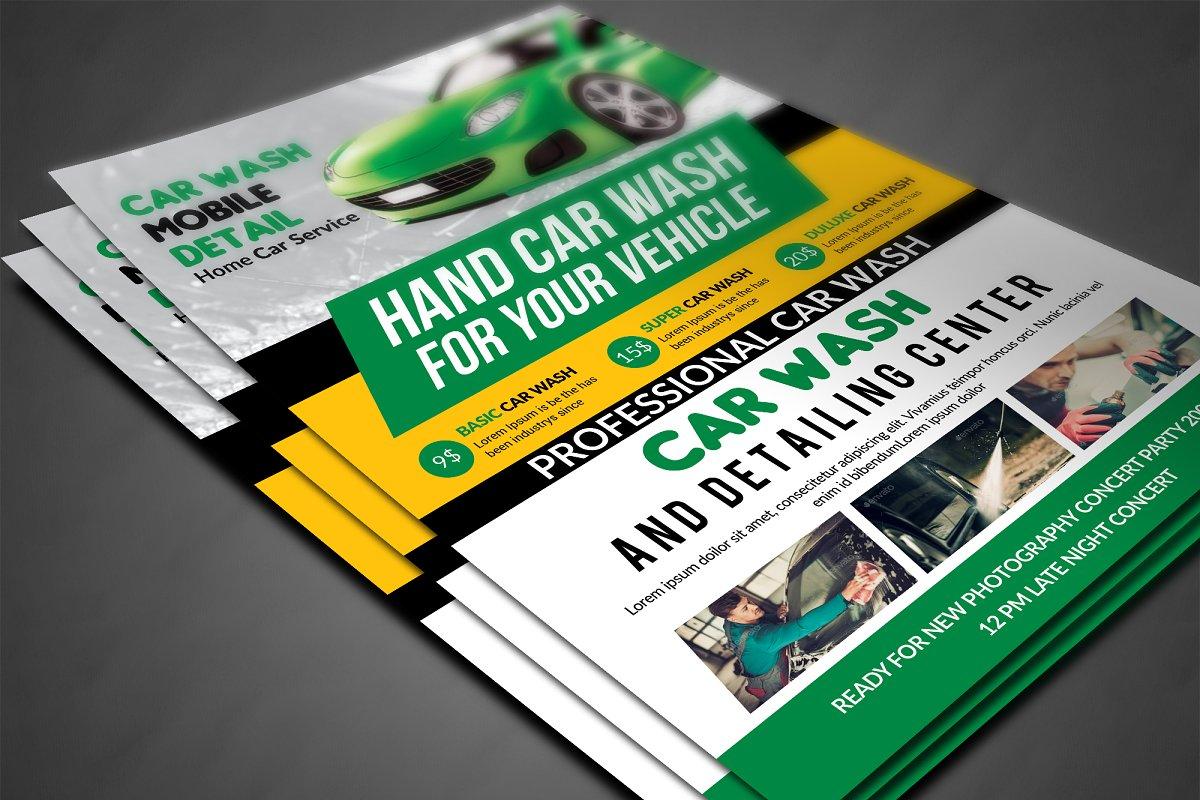 Car Wash Flyer | Creative Flyer Templates ~ Creative Market