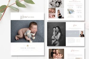 Newborn Photography Magazine PSD
