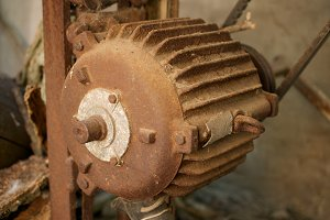 Rusty electric motor