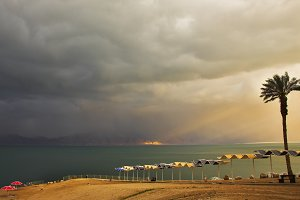 Charming beach canopies