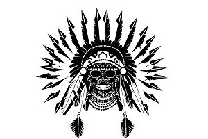 American Indian chief black