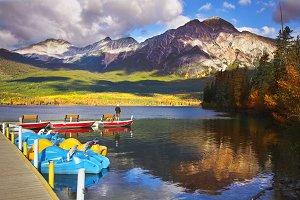 Pyramid lake in Canada