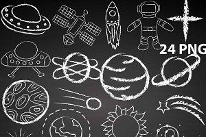 Space Doodles Clipart