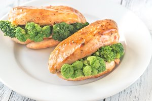 Broccoli stuffed chicken breast