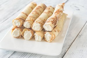 Crepes with cream cheese