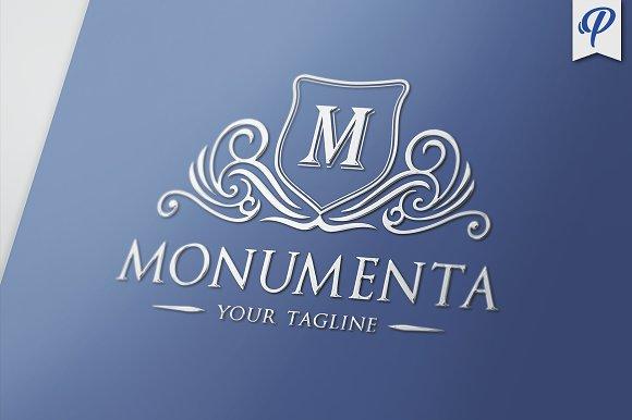 monumenta crest logo template logo templates creative market