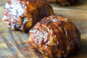 Bacon meatballs
