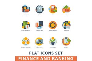 Money finanse vector icons banking safety business currency card financial deposit bank payment illustration.