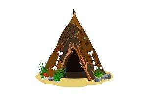 Ancient man hut