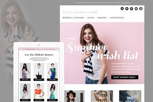 Summer Fashion E-mail Template PSD