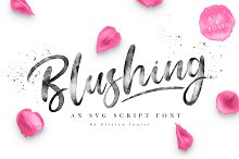 Blushing Script - SVG Font by Kirsten Louise in Script Fonts