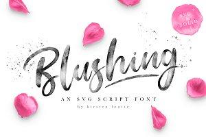 Blushing Script - SVG Font