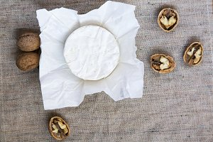 Round cheese camembert or brie
