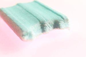 Half of Mint Bubble Gum
