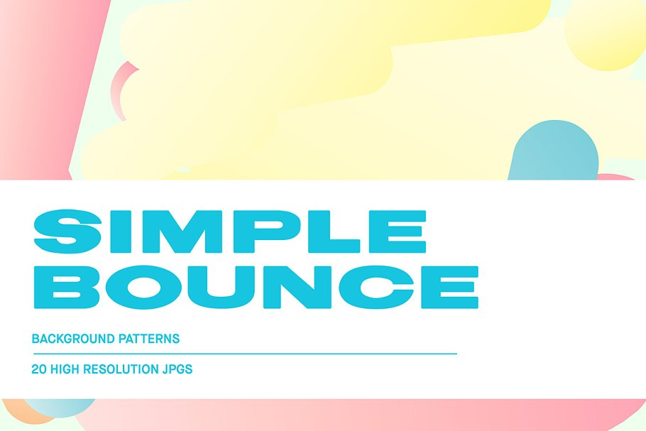Simple Bounce 20 Pastel Backgrounds in Illustrations - product preview 8