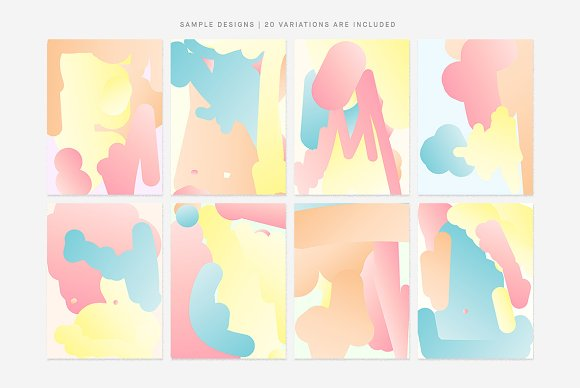 Simple Bounce 20 Pastel Backgrounds in Illustrations - product preview 1