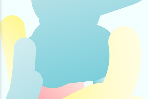 Simple Bounce 20 Pastel Backgrounds in Illustrations - product preview 7