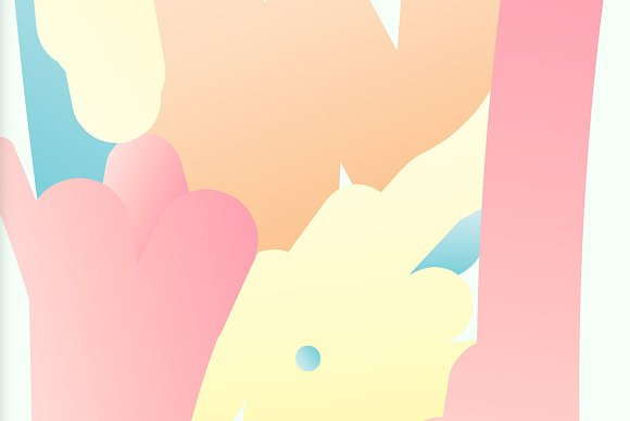 Simple Bounce 20 Pastel Backgrounds in Illustrations - product preview 9
