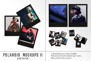 Polaroid Mockups Black Edition
