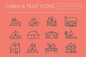 Cabin & Tent Icons