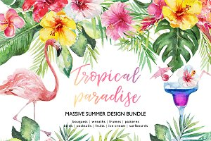 Tropical Paradise - Huge Design Kit
