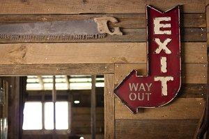 Vintage barn signs