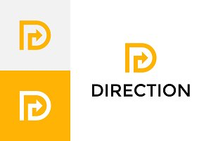 Direction - Letter D Logo