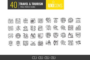 40 Travel and Tourism icons