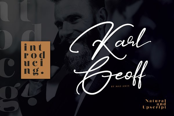 Script Fonts: Mas Anis - Karl Geoff