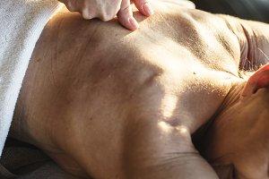 Female massage therapist