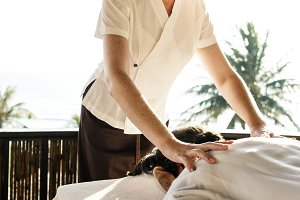 Female massage therapist