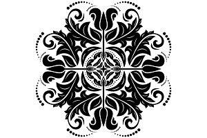 Damask Pattern. Light Orient Background