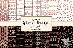 Bohemian Rose Gold Digital Paper