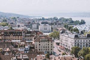 View of Historic Zurich City