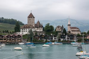 Panorama of Spiez, Switzerland