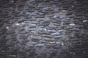 Dark Black Stones Background