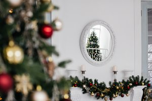 reflection in the mirror christmas
