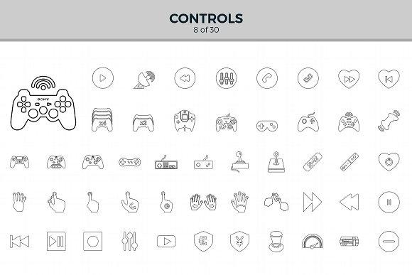 Jumbo Line Icons Pack Icons Creative Market