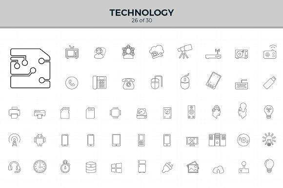 Jumbo Line Icons Pack