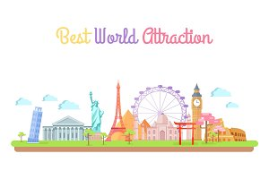 Best World Attractions Travel Agency Promo Banner