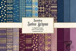 Serene Boheme Digital Paper