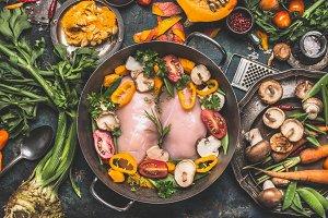 Chicken breast with Pumpkin