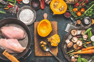 Cooking preparation with Pumpkin