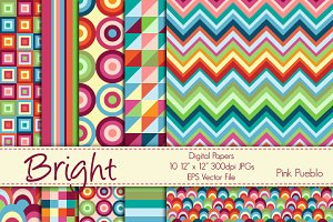 Bright Geometric Papers/Backgrounds