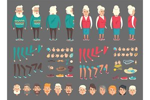 Grandpa and Grandma Abstract Character Constructor
