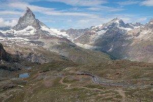 Closeup Matterhorn Mountain, Zermatt