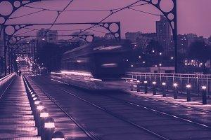 Metro Train on the Bridge of Dom