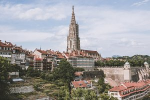 Panoramic View on Bern Minster